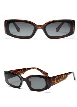 Очки окуляри винтажные стильные в стиле 90-х трендовые леопард солнцезащитные новые8 фото