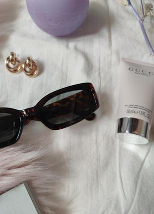 Очки окуляри винтажные стильные в стиле 90-х трендовые леопард солнцезащитные новые5 фото