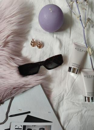 Очки окуляри винтажные стильные в стиле 90-х трендовые леопард солнцезащитные новые4 фото