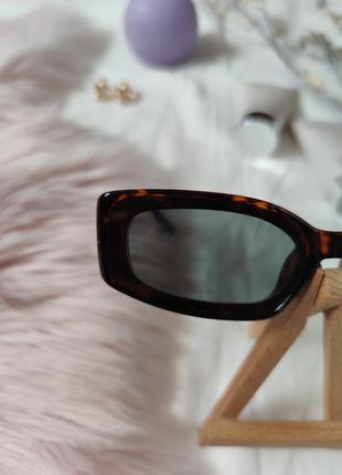 Очки окуляри винтажные стильные в стиле 90-х трендовые леопард солнцезащитные новые7 фото