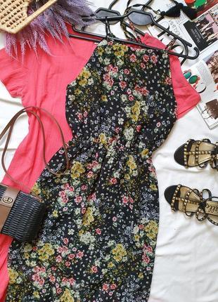 Красивое летнее шифоновое цветочное платье сарафан