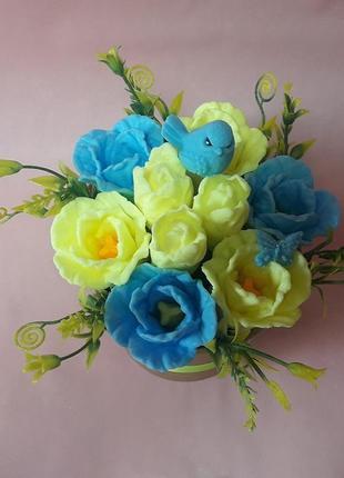 """Букет цветов из мыла """"тюльпаны"""""""