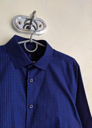 Чоловіча стильна сорочка smog slim fit в клітку