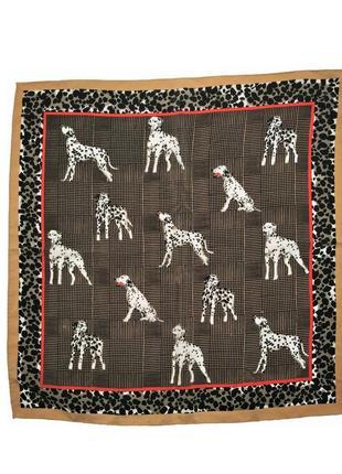 Шелковый шейный платок с долматинцами  codello /1535/