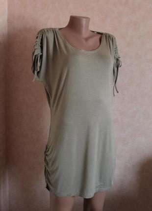 Трикотажное платье, олива