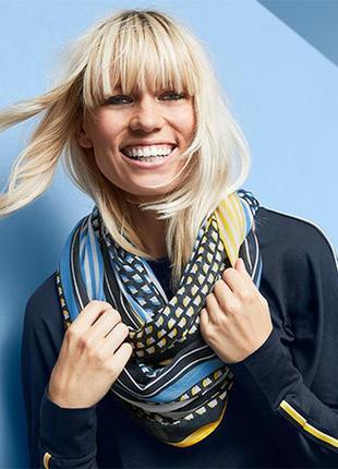 Универсальная стильная шаль - снуд от tchibo германия размер универсальный