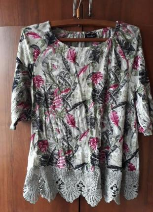 Блуза с кружевом benotti