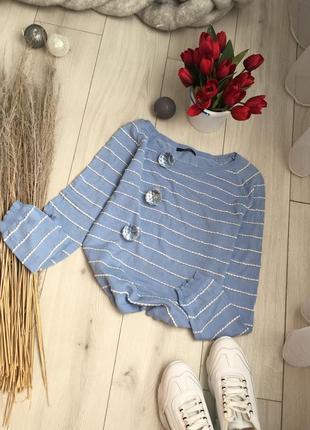 Світло голубий світшот светр світер кофта джемпер