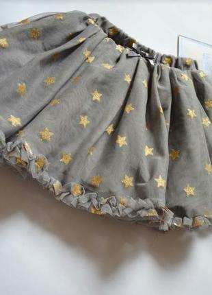 Фатиновая юбочка с золотыми звездами