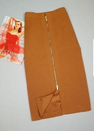 Новая юбка миди на молнии р 14