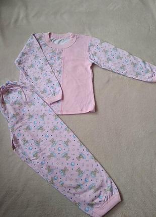 Пижама х/б на девочку 5-6 лет.