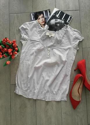 Батистовая блуза в полоску