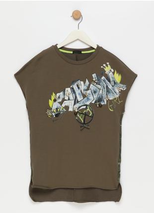 Новая футболка fun & fun, италия платье с подвесками и стразами туника хлопок