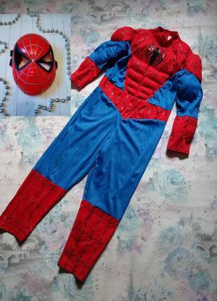Карнавальный костюм спайдермена, человек паук,супергерой бренд disney на 5-6 л