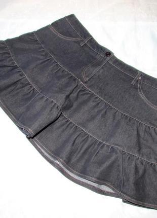 Короткая юбка клеш от denim co