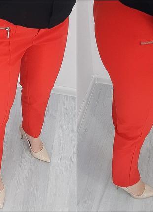 Красные брюки f&f новые с бирками