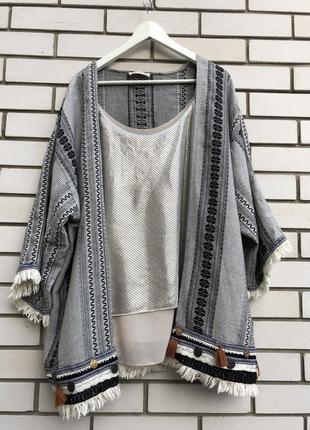 Кардиган кимоно marks&spenser m&s накидка в стиле бохо