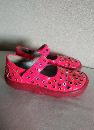 Туфли-мокасины pom dapi лаковая кожа девочка 28 размер