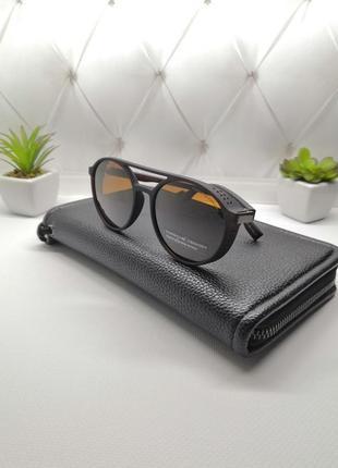 Мощные очки порш дизайн в матовой оправе с коричневой линзой🔥