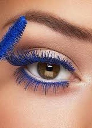 Цветная тушь с эффектом панорамного объема kiko smart colour mascara 02 electric blue