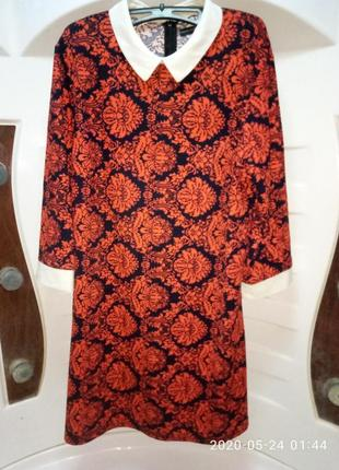 Красивое фирменное платье atmosphere  46-48р 3/4 рукав