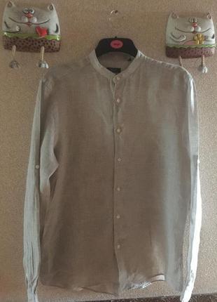 Льняная мужская рубашка италия , оригинал