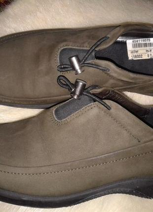Ессо, туфли мокасины кожа замша 39,5-40 р , 26см