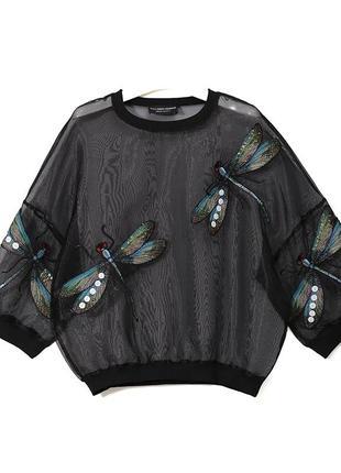 Блуза со стрекозами