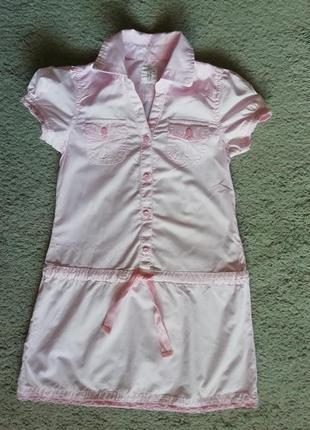 Нежное платье h&m, 128-134 размер, в идеале