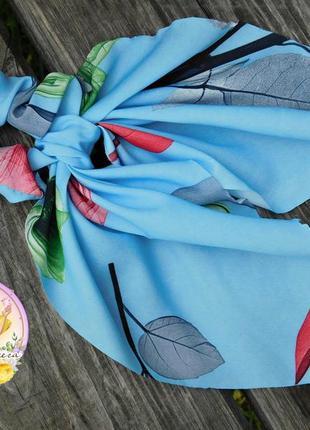 Резинка платок ( твилли ) , цвет голубой