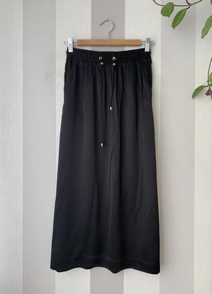 Сатиновая юбка h&m