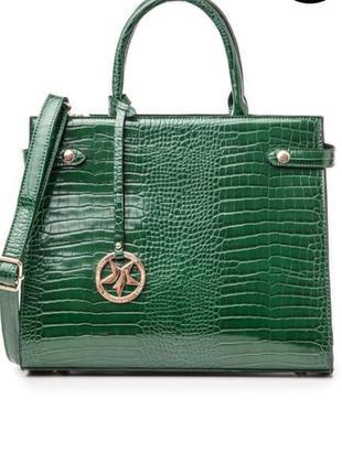 Зеленая сумка крокодил primadonna италия!