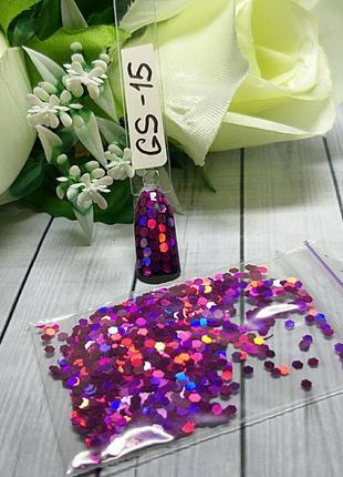 Дизайн для ногтей соты, gs-15