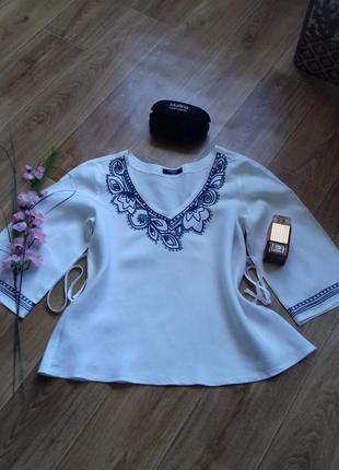 Рубашка-вышиванка,лен