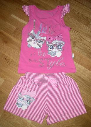 Турецкий летний костюмчик для девочки 2-4лет.
