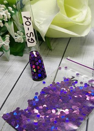 Дизайн для ногтей соты, gs-01