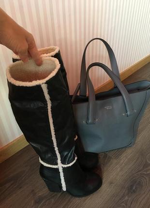 Сапоги ботфорты новые устойчивый каблук