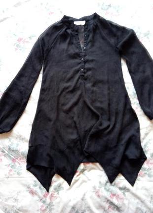 Прозрачная рубашка-туника