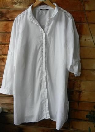Суперклассная натуральная рубашка большой размер