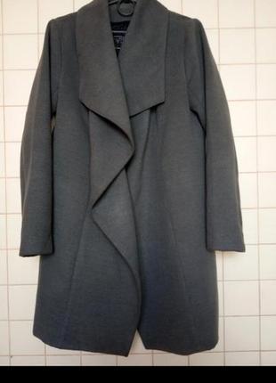 Пальто кардиган серое серый
