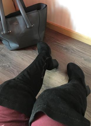 Сапоги ботфорты устойчивый каблук