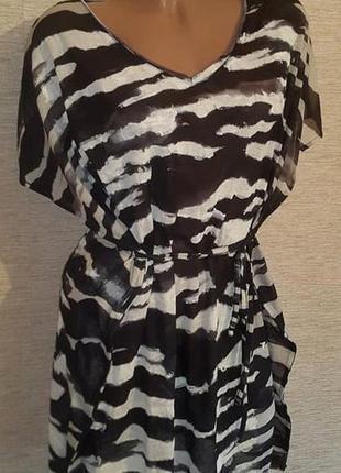 Женская туника платье короткий рукав фирмы h&m