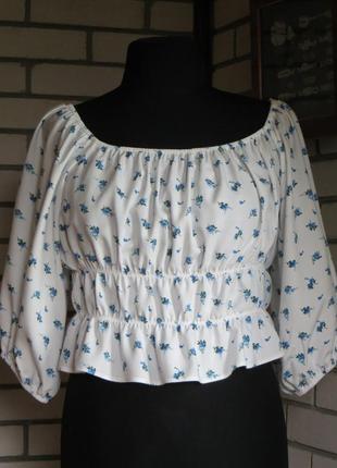 Очень красивая,нежная,укороченная блуза, 16 р-ра.