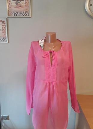 Розовая легкая туника