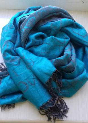 Классный кашемировый палантин шарф 180×70