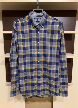 Tommy hilfiger, фирменная брендовая мужская рубашка в клетку