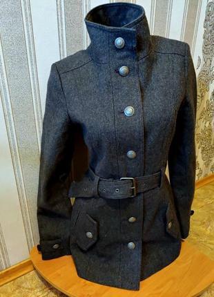 Распродажа новое женское шерстяное демисезонное пальто фирмы clockhouse