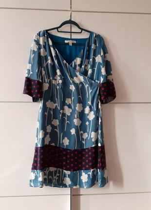 Diane von furstenberg шелковое платье