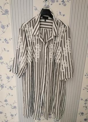 Крутая туника-рубашка королевского 60-66размера