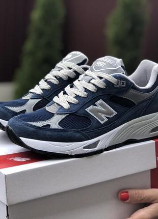 Молодежные кроссовки new balance, англия, синие